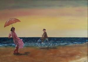 strandtafereel-met-fietser